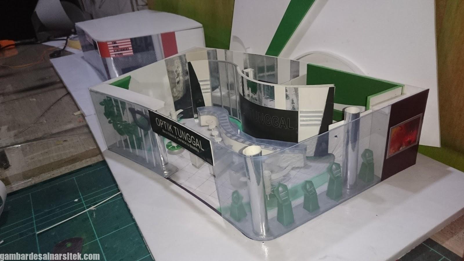 Maket Arsitektur Miniatur Model 23 d