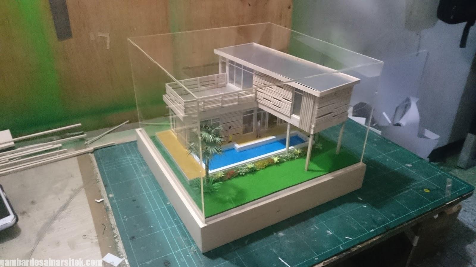 Maket Arsitektur Miniatur Model 25 a