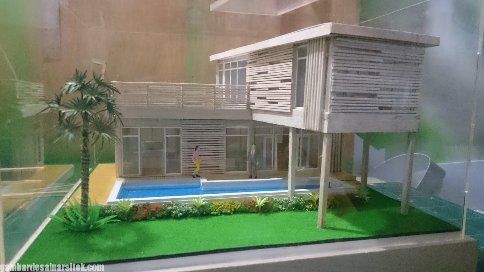 Maket Arsitektur Miniatur Model 25 c