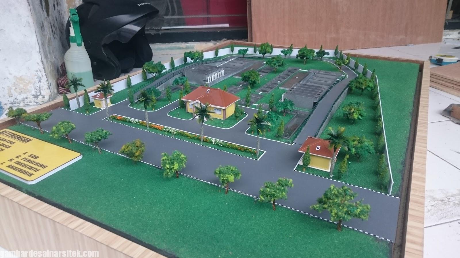 Maket Arsitektur Miniatur Model 28 a