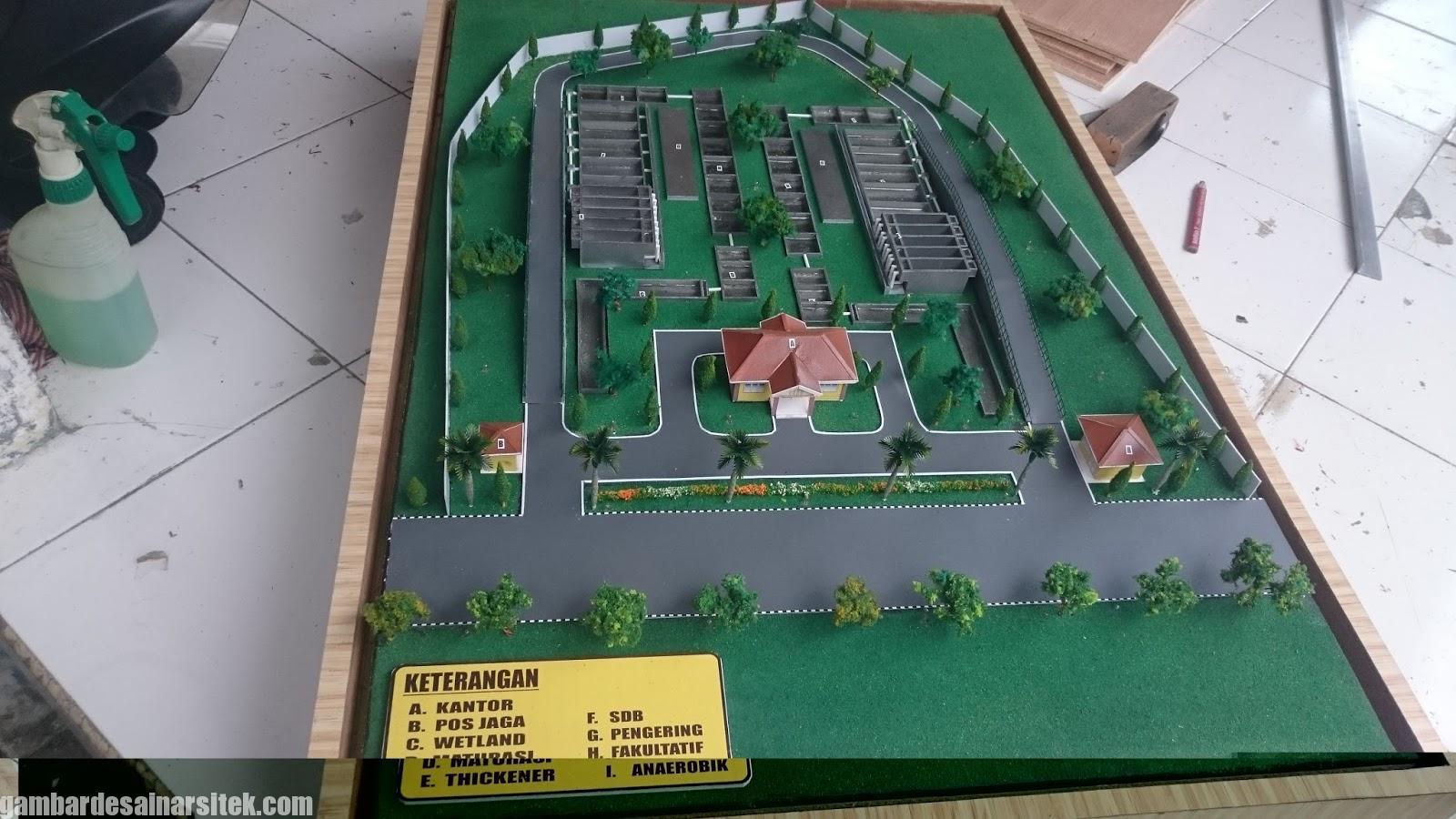 Maket Arsitektur Miniatur Model 28 c