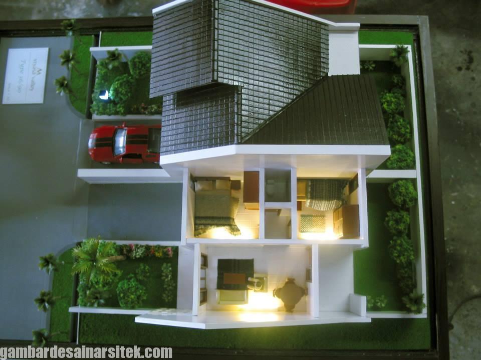 Maket Arsitektur Miniatur Model 34 b