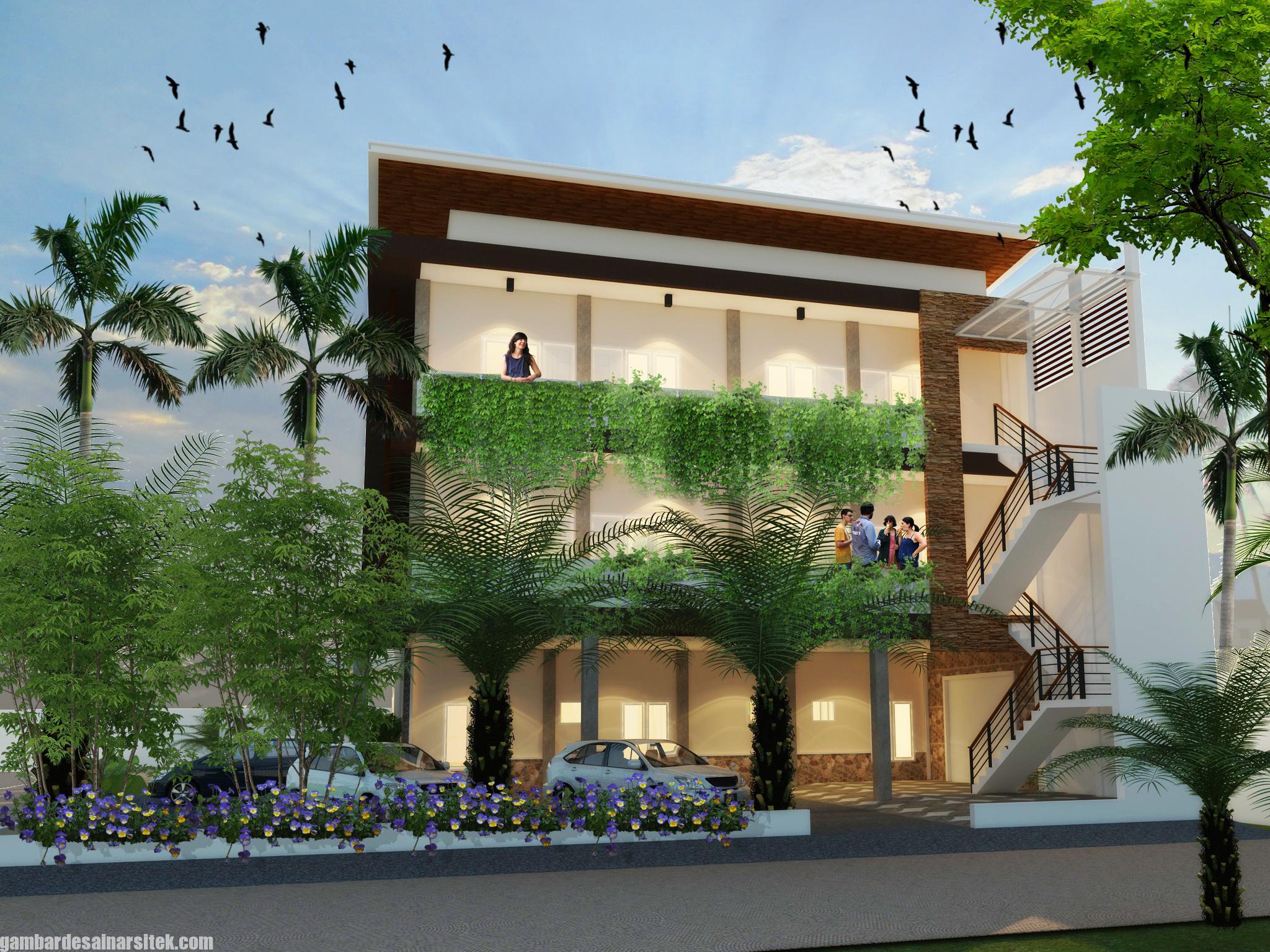 Desain Rumah Kost Minimalis 3 Lantai (2)