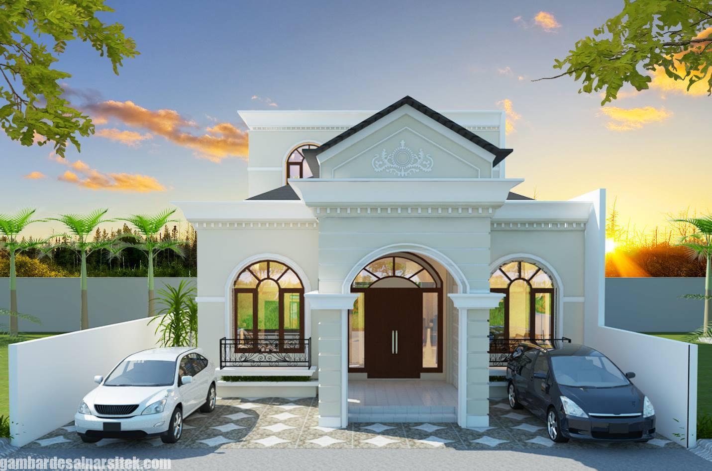Desain Rumah Mediterania Mewah 1 Lantai (2)