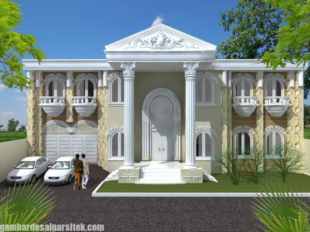 Desain Rumah Mediterania Mewah 2 Lantai (1)
