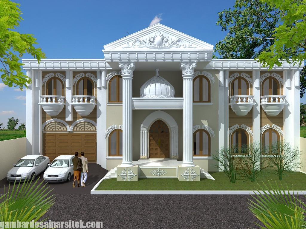 Desain Rumah Mediterania Mewah 2 Lantai (12)