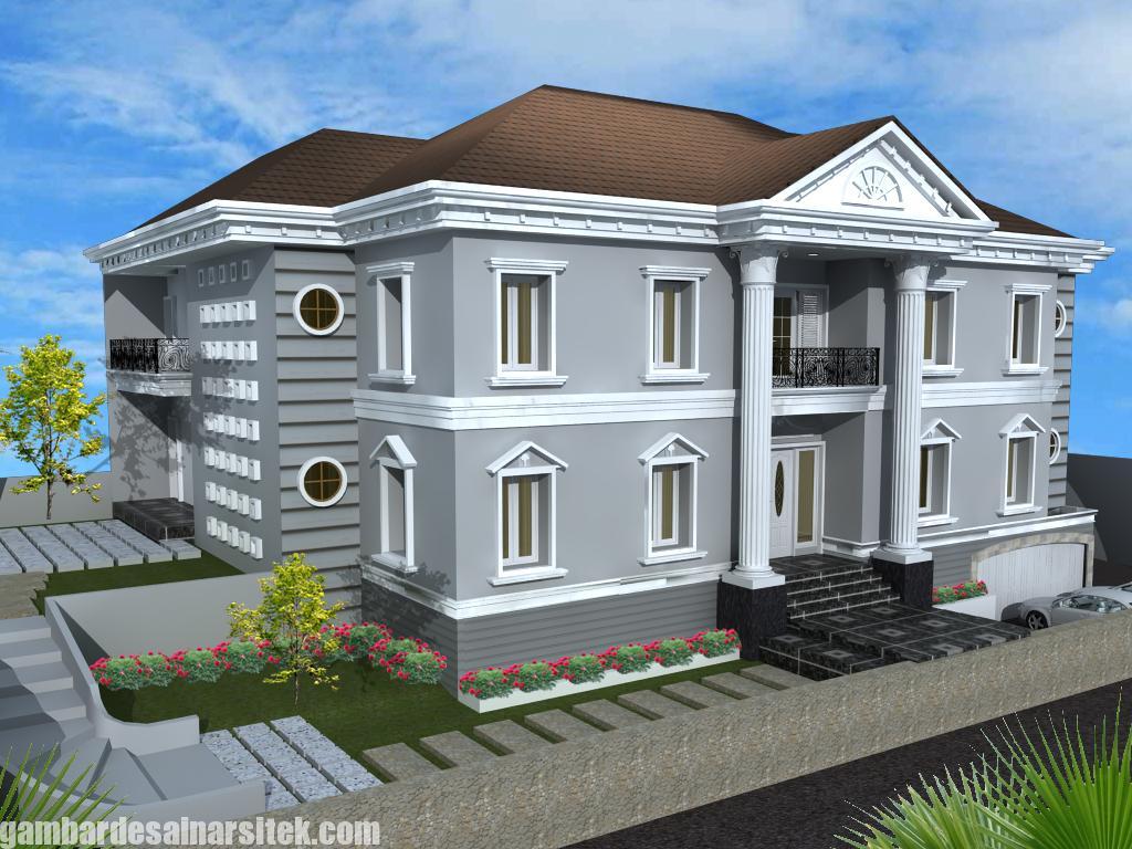 Desain Rumah Mediterania Mewah 2 Lantai (14)