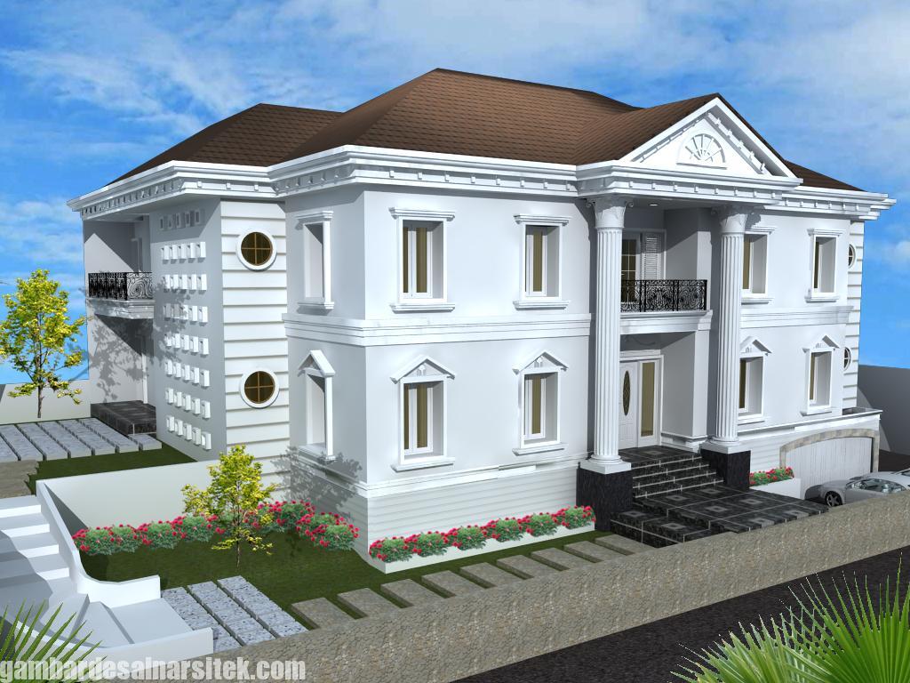 Desain Rumah Mediterania Mewah 2 Lantai (15)