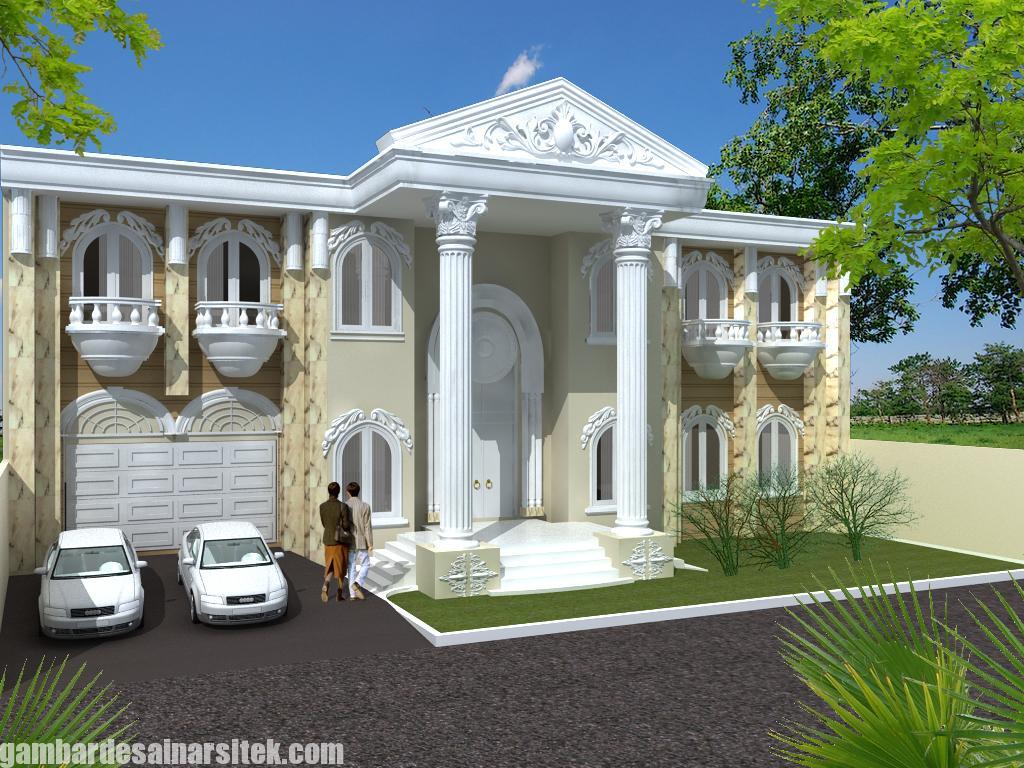 Desain Rumah Mediterania Mewah 2 Lantai (2)