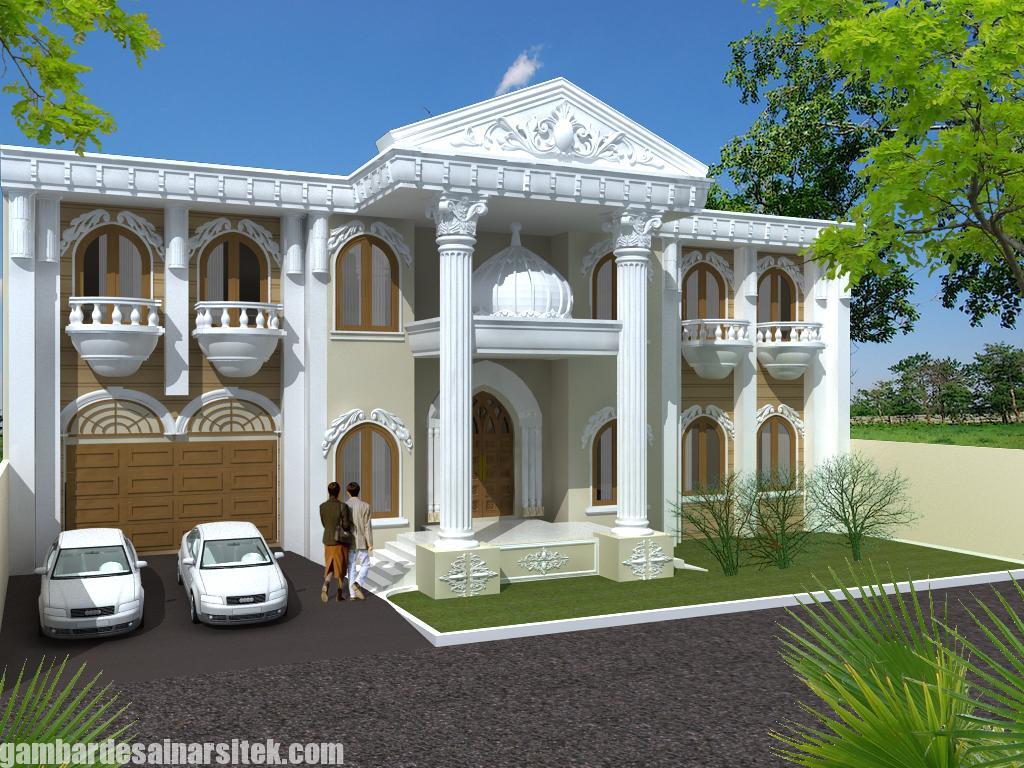 Desain Rumah Mediterania Mewah 2 Lantai (3)
