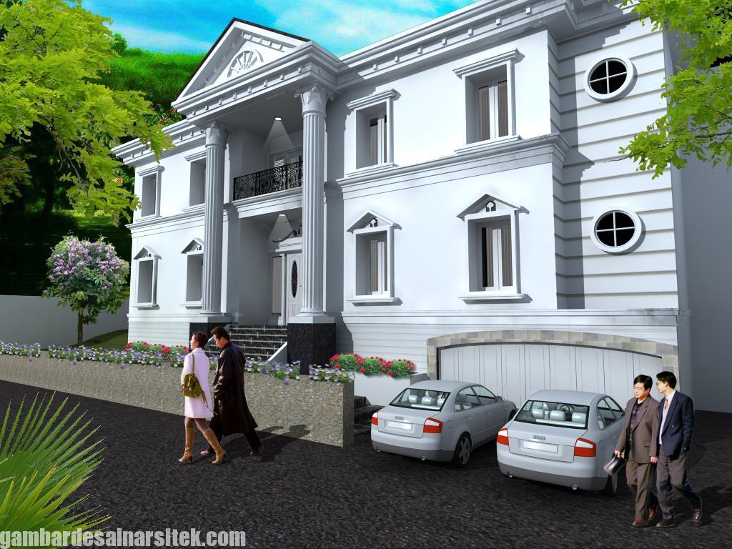 Desain Rumah Mediterania Mewah 2 Lantai (6)