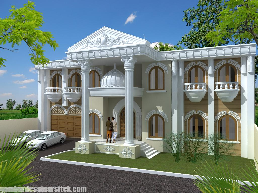 Desain Rumah Mediterania Mewah 2 Lantai (7)