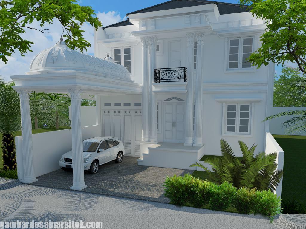Desain Rumah Mediterania Mewah 2 Lantai (8)