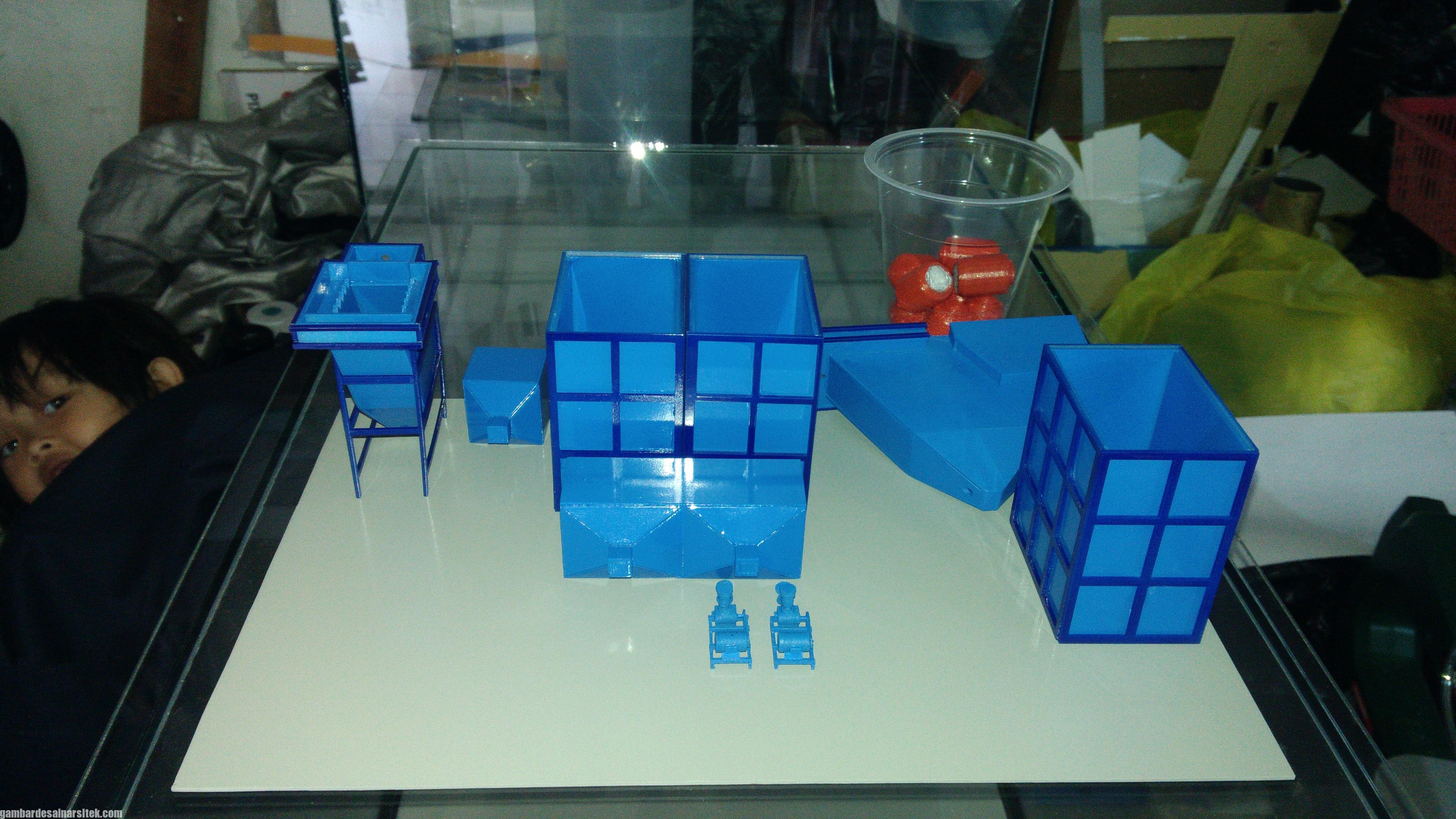Maket Arsitektur Miniatur Model 36 Permesinan Pengolahan Limbah (11)