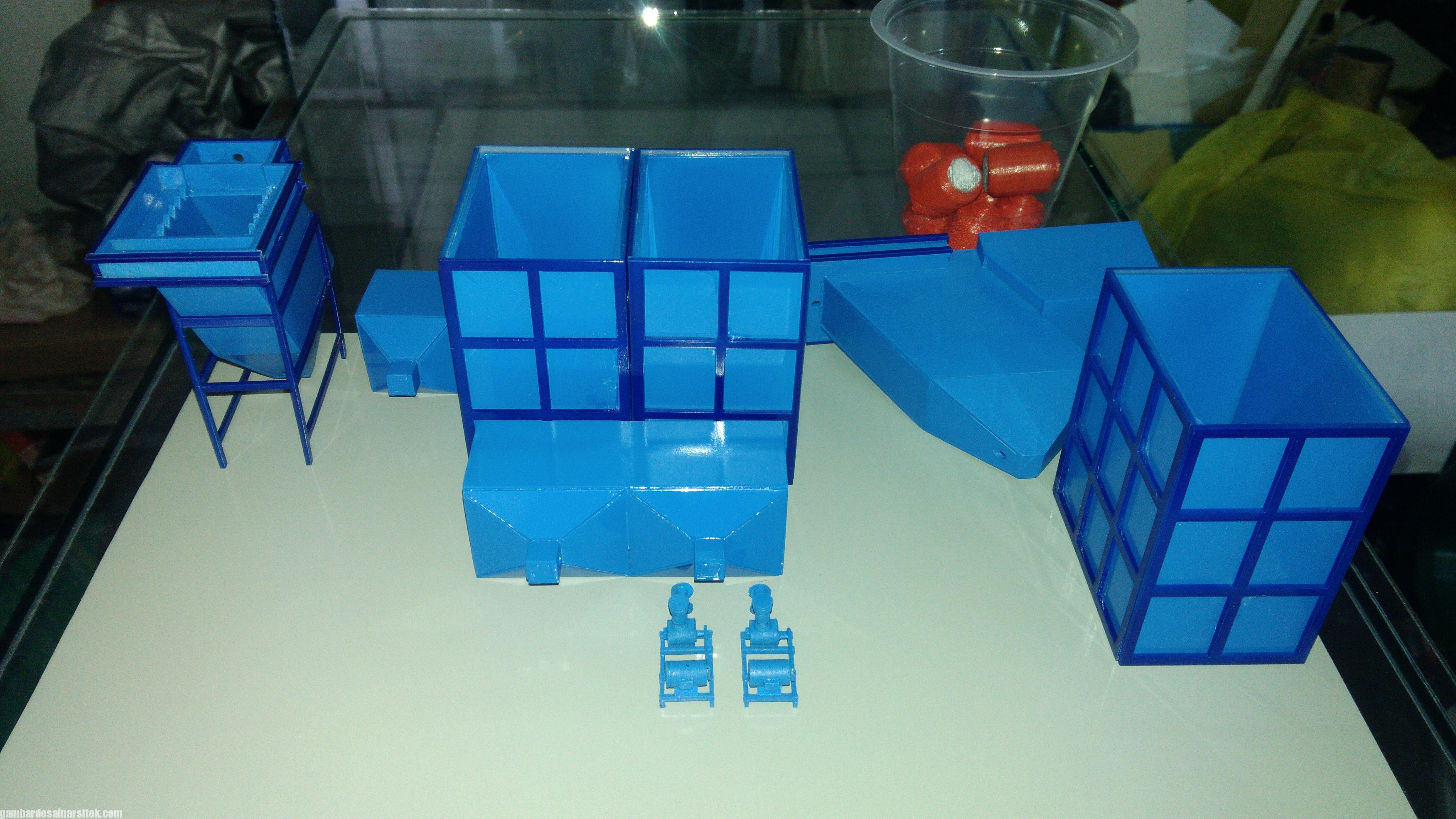Maket Arsitektur Miniatur Model 36 Permesinan Pengolahan Limbah (12)