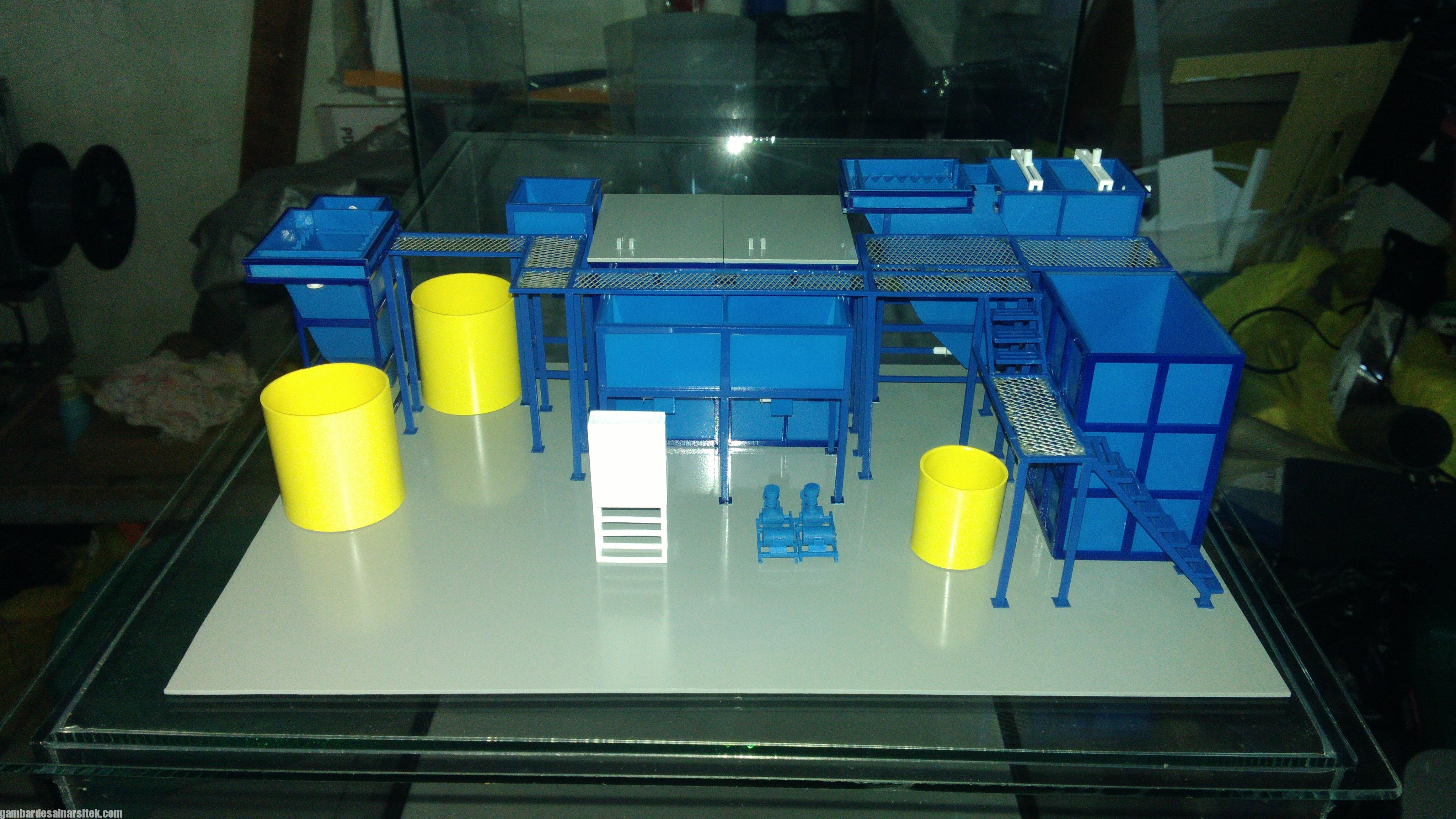 Maket Arsitektur Miniatur Model 36 Permesinan Pengolahan Limbah (17)