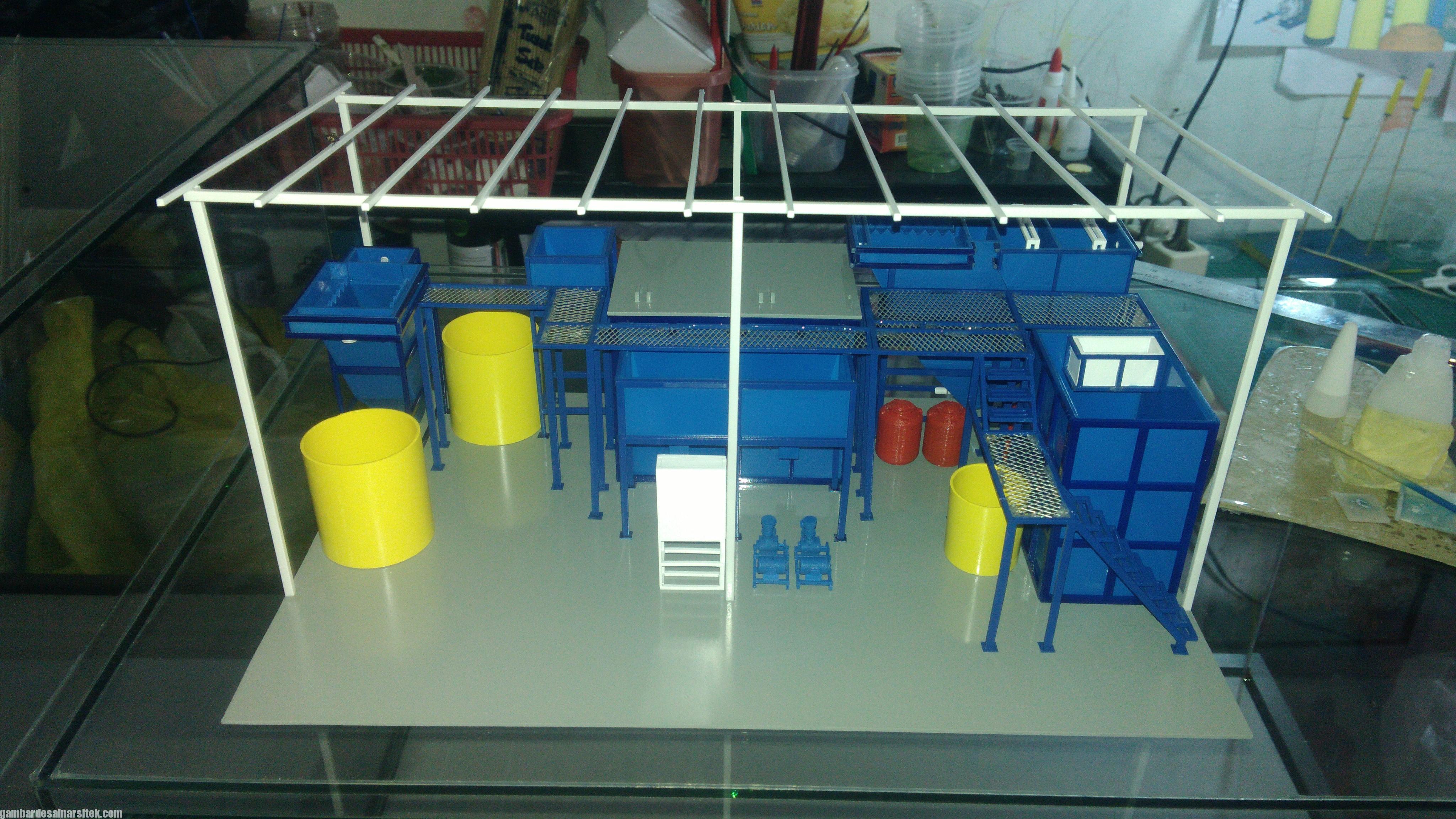 Maket Arsitektur Miniatur Model 36 Permesinan Pengolahan Limbah (19)