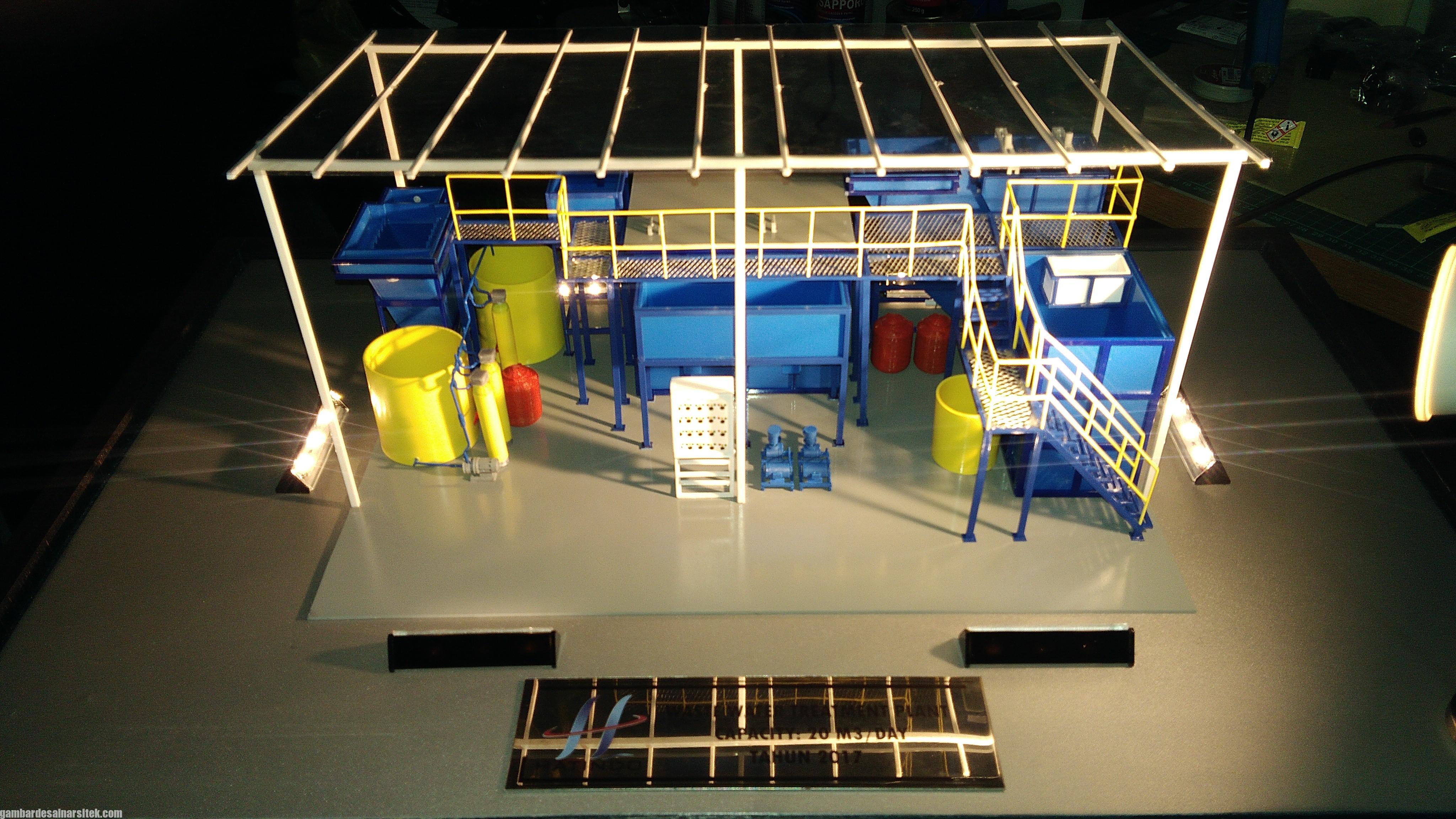 Maket Arsitektur Miniatur Model 36 Permesinan Pengolahan Limbah (29)