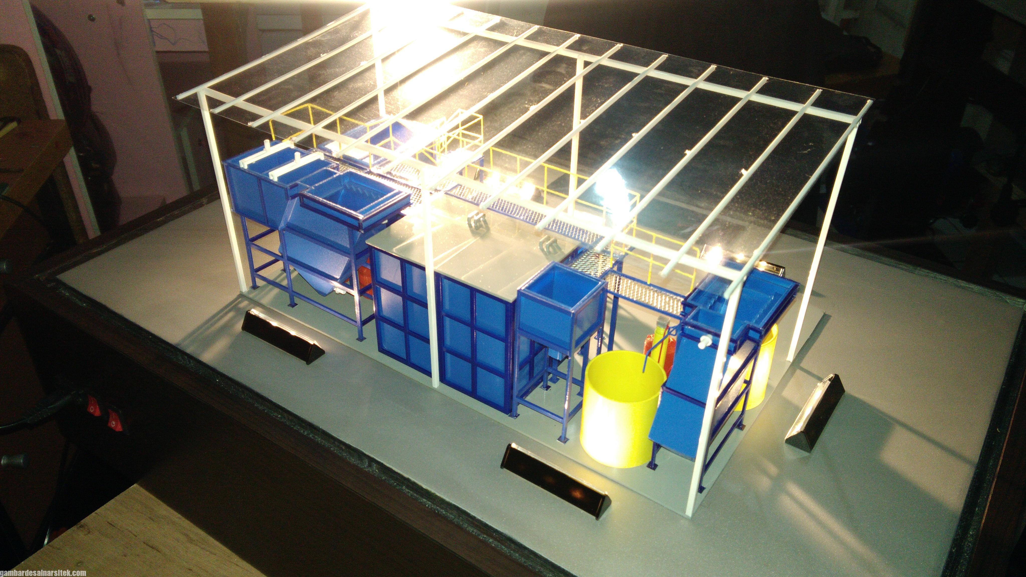 Maket Arsitektur Miniatur Model 36 Permesinan Pengolahan Limbah (31)