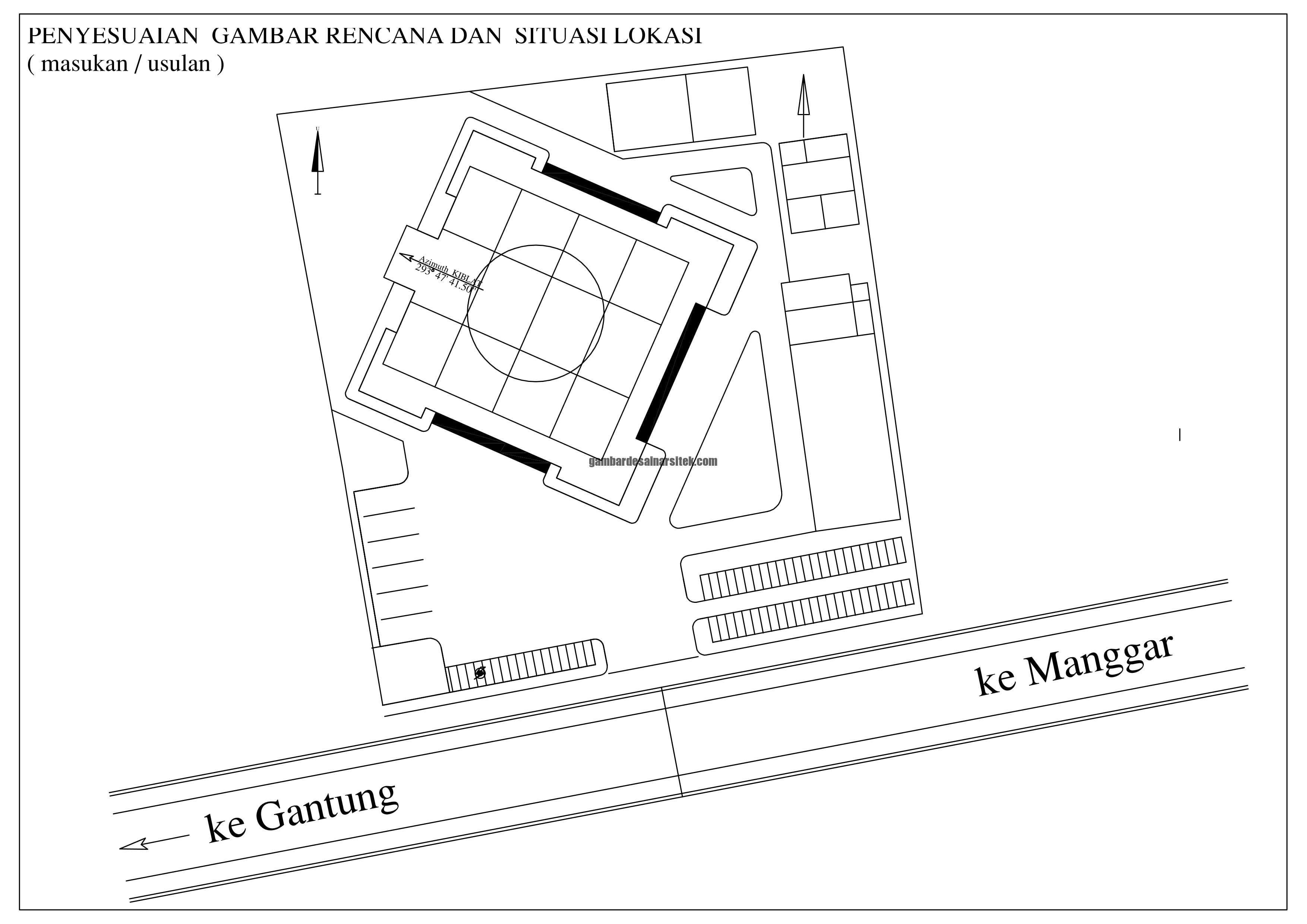 Desain Siteplan Masjid Penyesuaian Gambar Rencana dan Situasi Lokasi 1