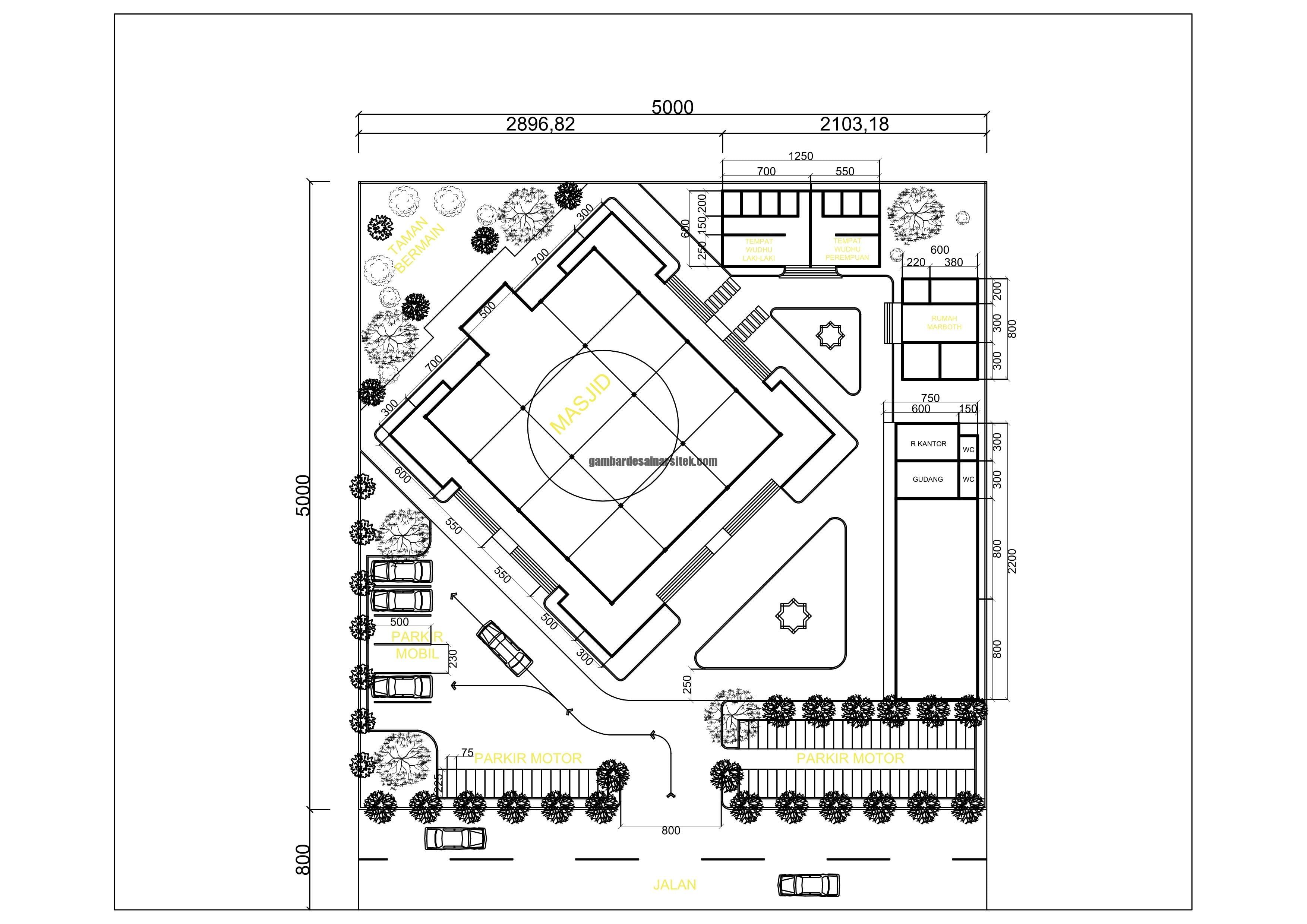 Desain Siteplan Masjid Penyesuaian Gambar Rencana dan Situasi Lokasi 4