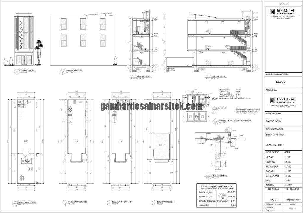 Gambar IMB Ruko Model 2