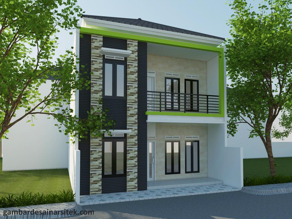 Desain Rumah Minimalis Tropis Model 6 (2)