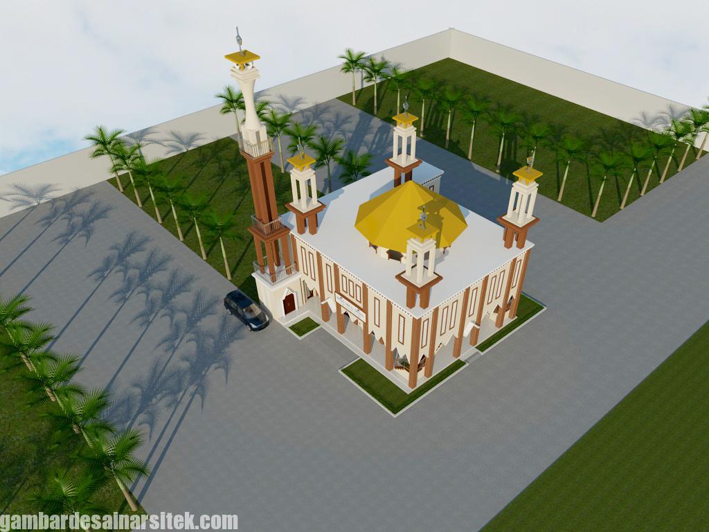 Bird Eye View Desain Minimalis (3) Masjid