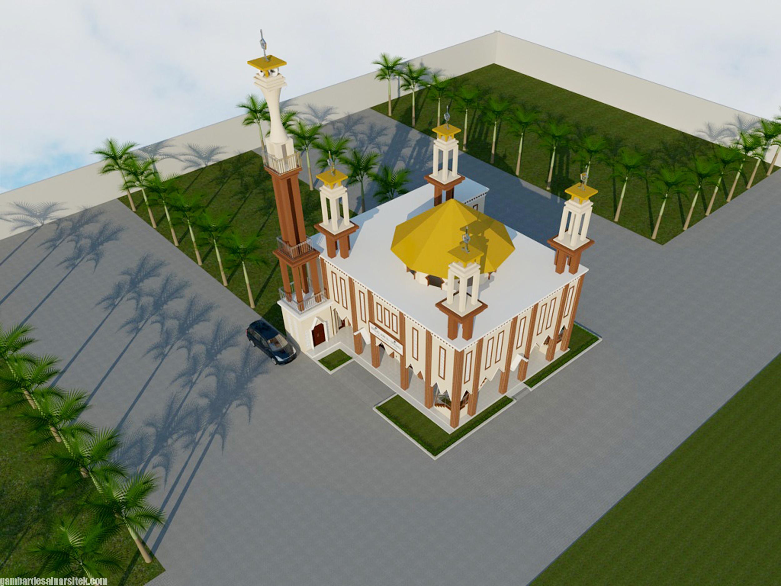 Bird Eye View Desain Minimalis (5) Masjid