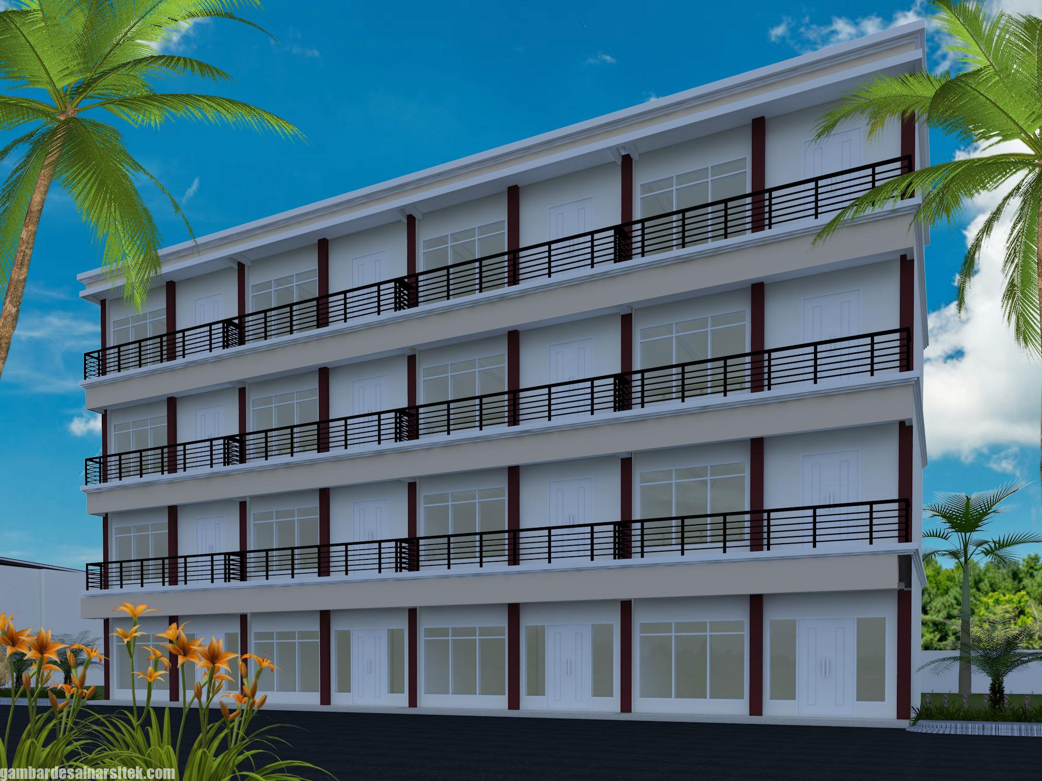 Desain Rumah Kost Minimalis 4 Lantai (2)