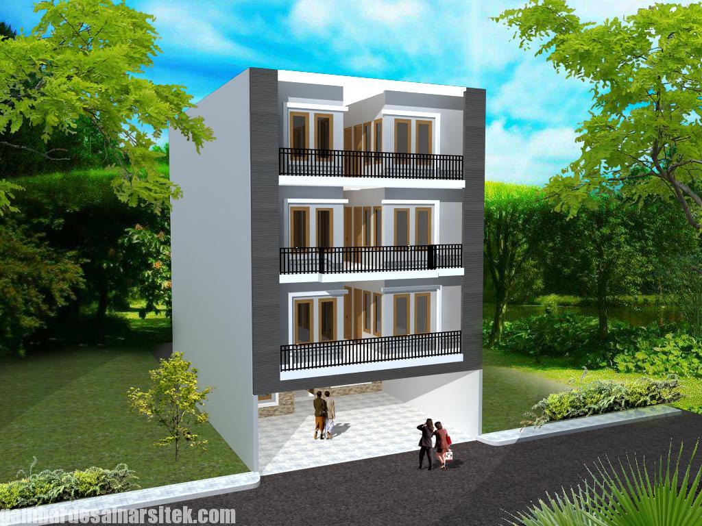 Desain Rumah Kost Minimalis 4 Lantai
