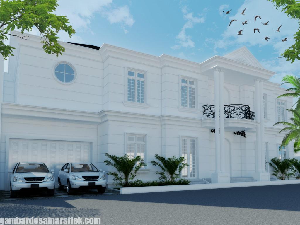 Desain Rumah Mediterania Mewah 2 Lantai 4
