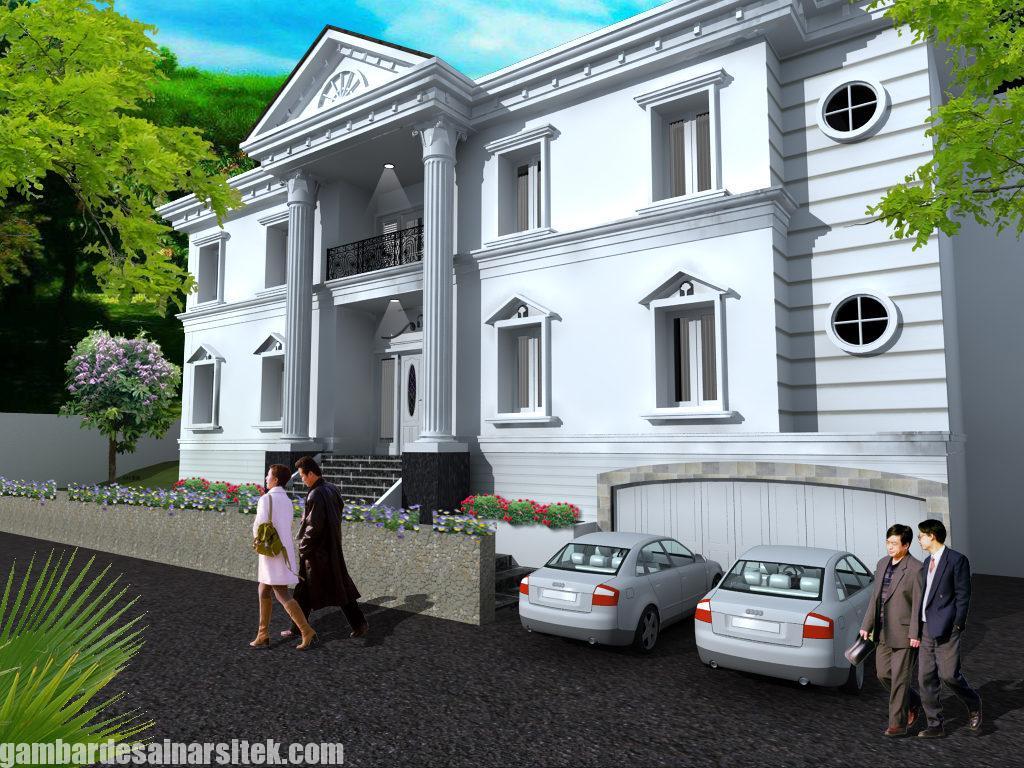 Desain Rumah Mediterania Mewah 2 Lantai 6
