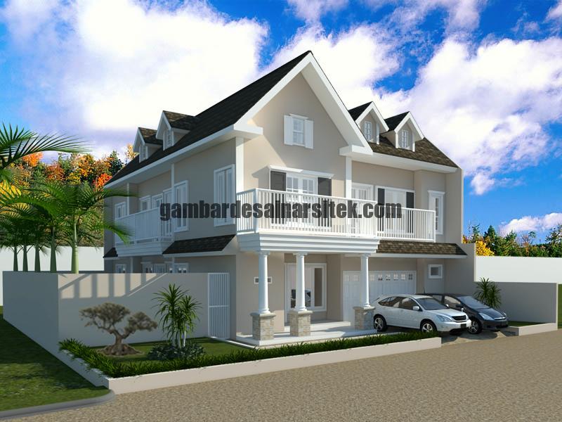 Desain Rumah Tipe Eropa 2 Lantai 2