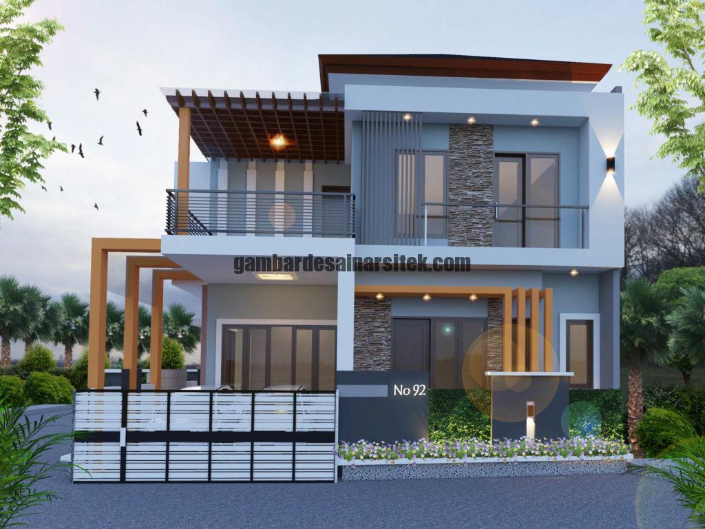 Kontraktor Rumah Jakarta Tipe Minimalis 2 Lantai 1