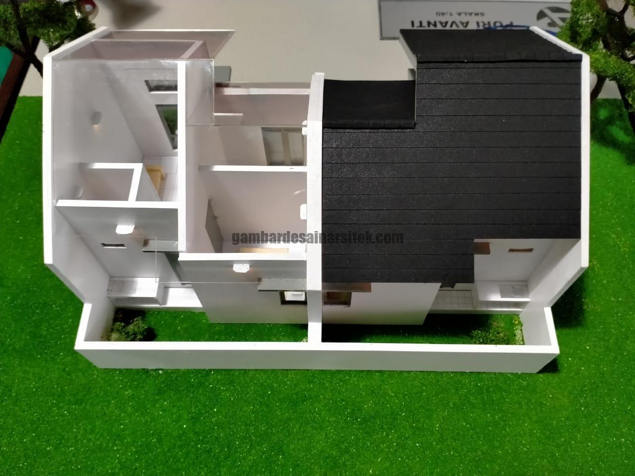 Maket Rumah Minimalis Type Skala 1 40 Model Kopel 5