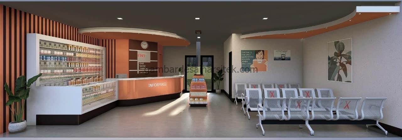 Desain Interior Apotek Modern Nuansa Oranye 2