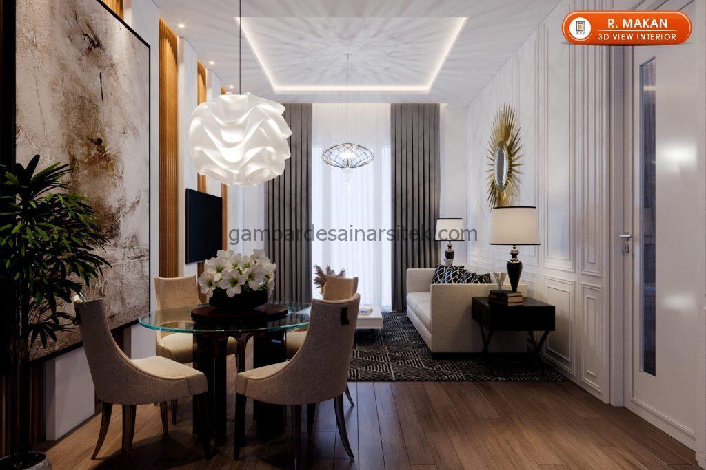 Desain Interior Satu Rumah Dua Lantai Minimalis Mewah 1