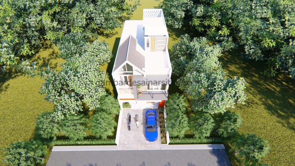 Desain Interior Satu Rumah Dua Lantai Minimalis Mewah 13