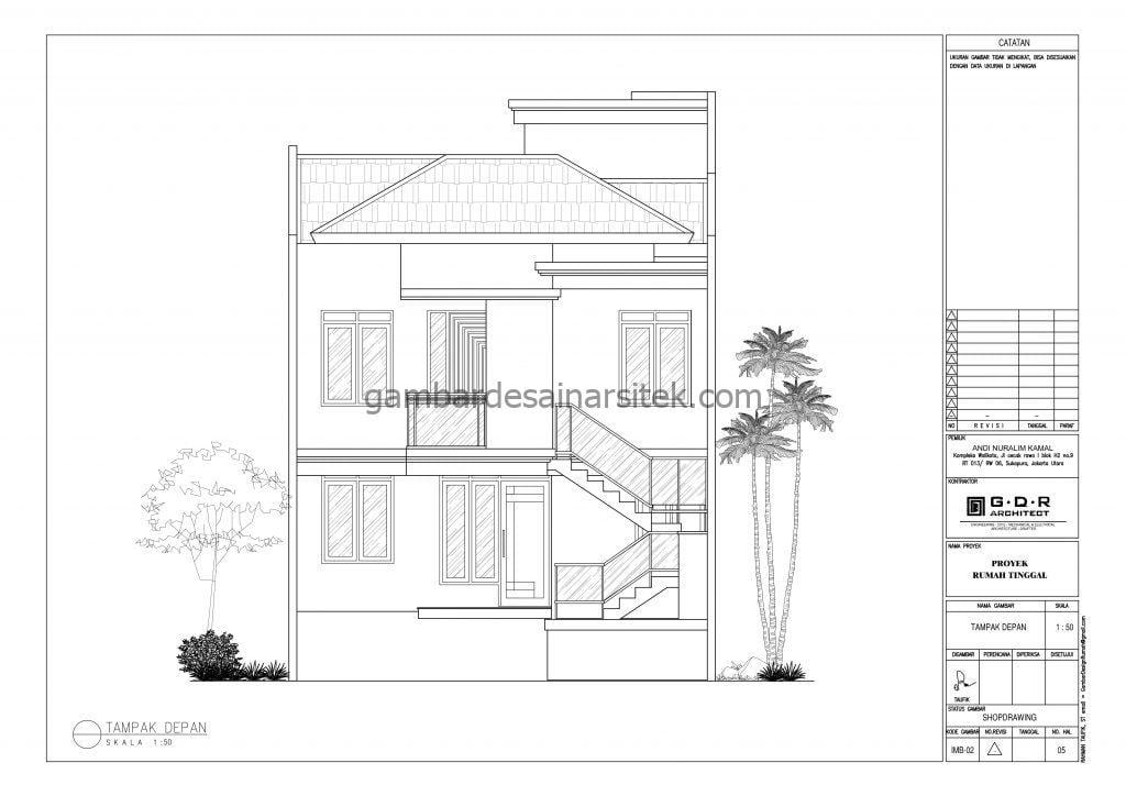 RAB Rumah Ukuran Tanah 8x15 3 Lantai Tahun 2021 1
