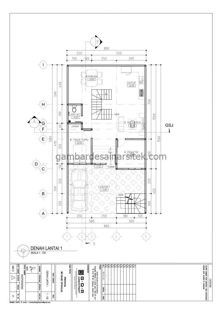 RAB Rumah Ukuran Tanah 8x15 3 Lantai Tahun 2021 2