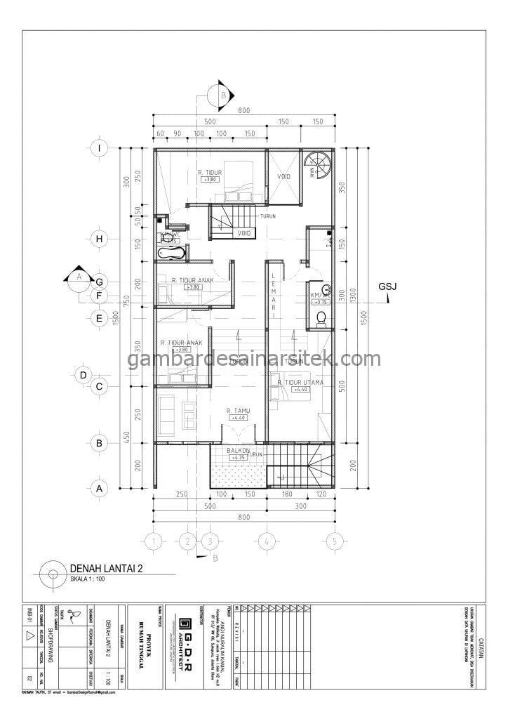 RAB Rumah Ukuran Tanah 8x15 3 Lantai Tahun 2021 3
