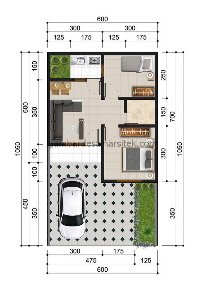 desain cluster minimalis satu lantai 7