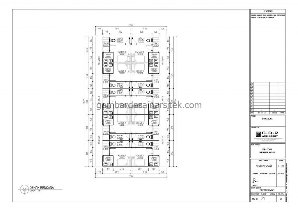 Gambar Denah Rumah Kos 18x10 1
