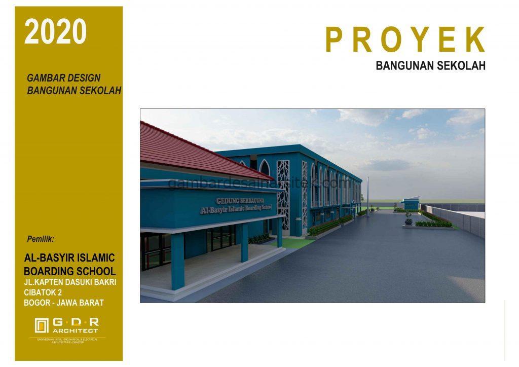 3D Gambar Desain Bangunan Sekolah Boarding School 1