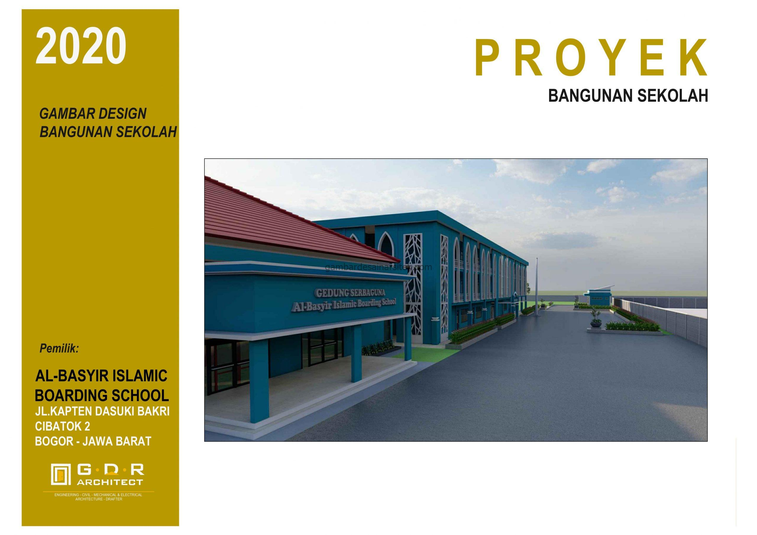 3D Gambar Desain Bangunan Sekolah Boarding School 1 scaled
