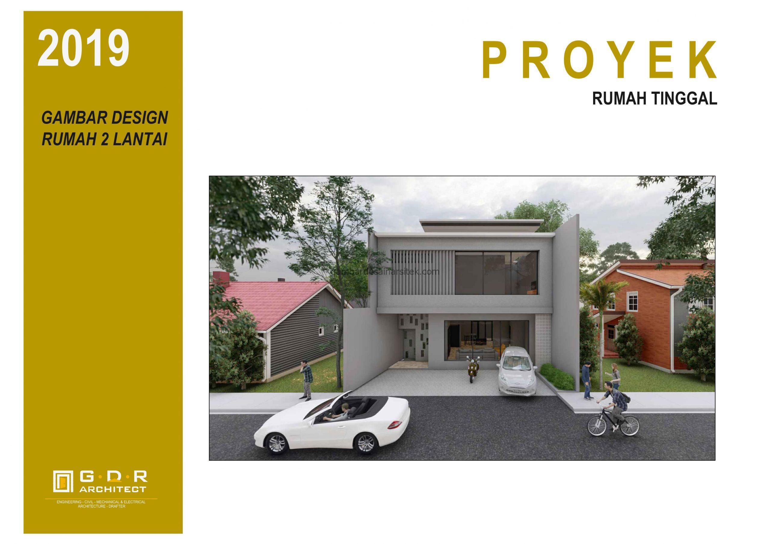 3D View Gambar Desain Rumah 2 Lantai 11x16 1 scaled