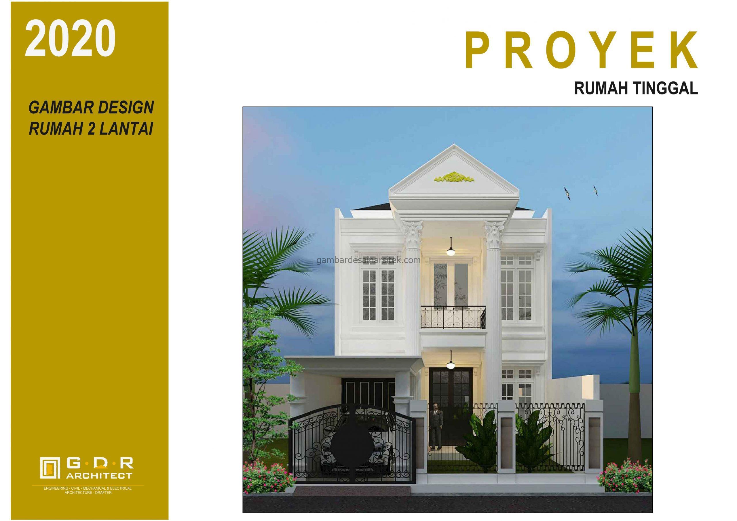 3D gambar desain rumah mewah 2 lantai 7x17 1 scaled