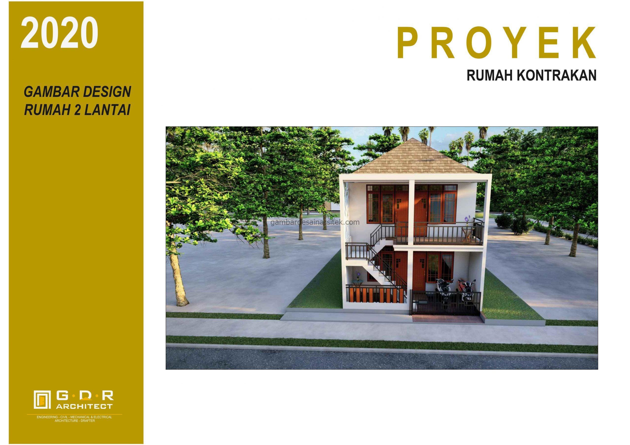 3d gambar desain rumah kost minimalis 2 lantai 6x10 1 scaled