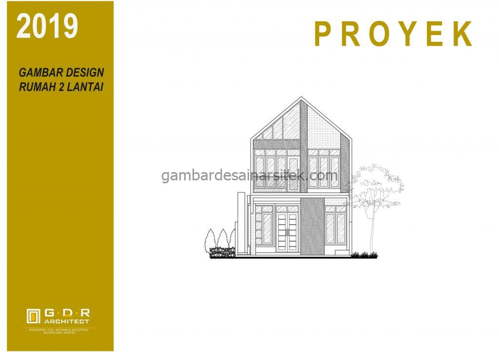 Binder Gambar Desain Rumah 2 Lantai 7x18 1 1